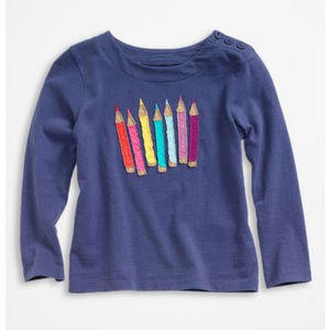 Mini Boden 'Multi Crayon' Applique Tee (7-8Y)